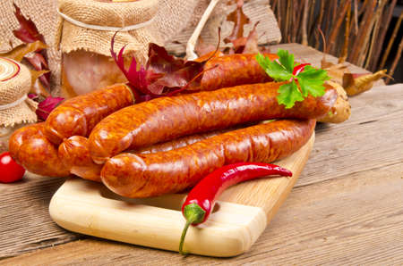 pep: Polish sausage (Polska) Stock Photo