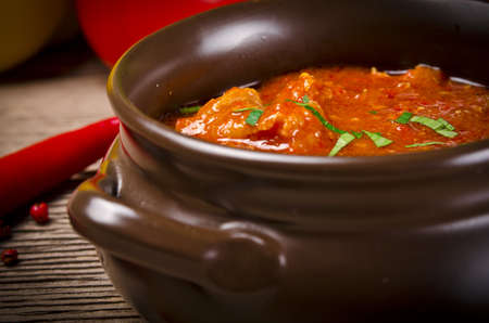 sausage pot: Hungarian goulash
