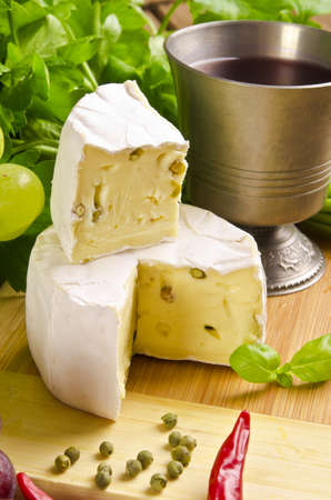 Brie with green pepper photo