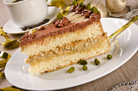Halva cake, Kaffe and champagne photo