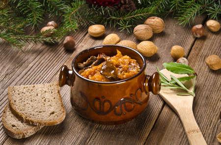 Sauerkraut with smoked meat Stock Photo - 11989398