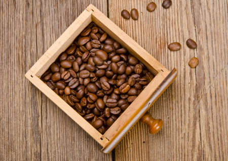 Rustic coffee grinder photo