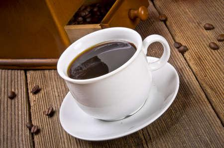 Rustiek koffiemolen Stockfoto