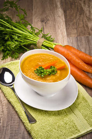 sopa de pollo: La sopa de zanahoria