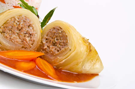 red cabbage: cabbage rolls Stock Photo