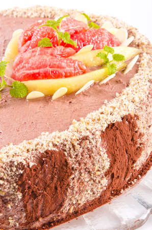 Coffee cake with pear and Grejpfrut photo