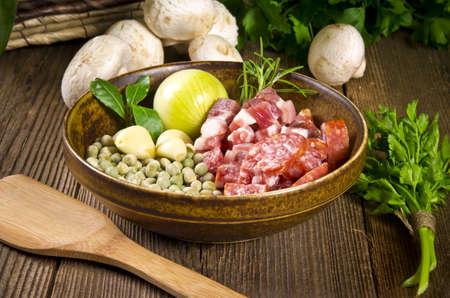pea soup  ingredients Stock Photo - 12573564