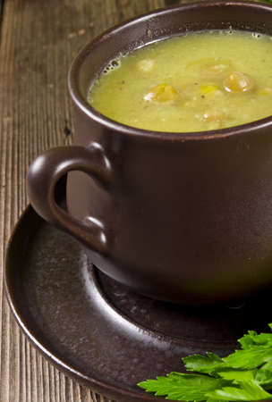 Pea soup  Polish Grochowka  photo