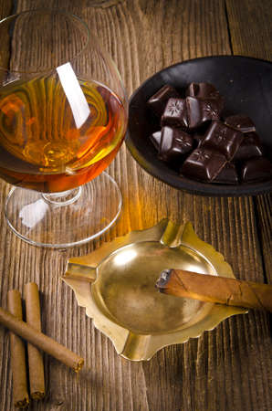 chocolate with brandy photo