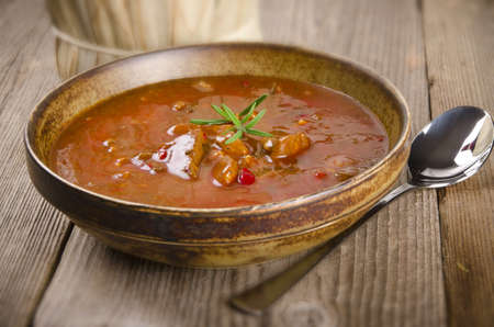 Goulash soup photo