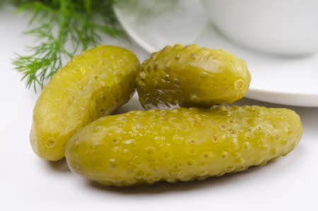 gherkin: pickled gherkin Stock Photo
