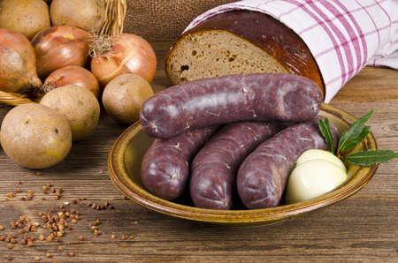 Krupniok traditional blood sausage in Polish cuisine photo