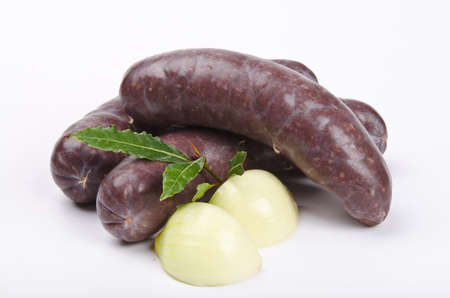 Krupniok traditionelle Blutwurst in polnischer Küche