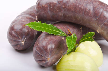 Krupniok traditional blood sausage in Polish cuisine photo