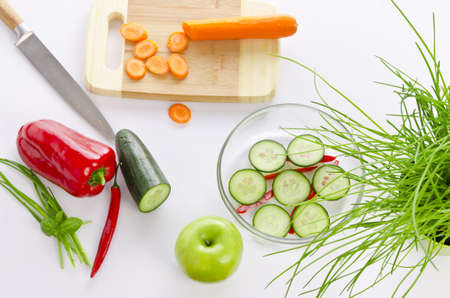 isoliert: fresh vegetables Stock Photo