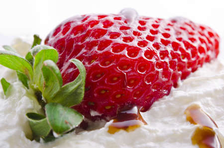 strawberry with cream Stock Photo - 13400533