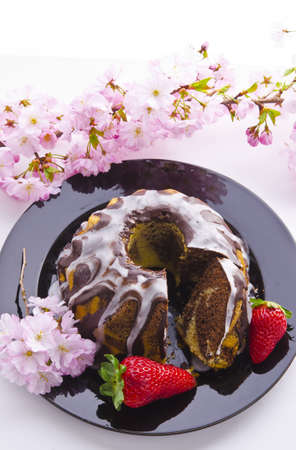 spring marble cakes photo