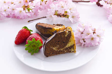 caked: marble cake with cherries
