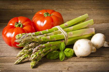 asperges: groene asperges Stockfoto