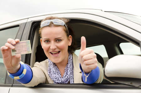 woman with driving licence photo