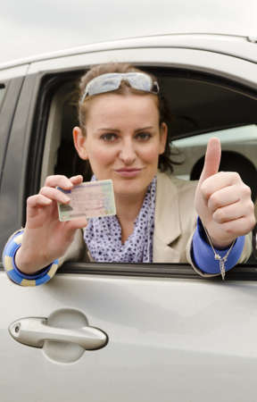 licence: woman with driving licence