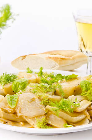 kohl: Roasted fennel discs with limes Stock Photo