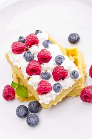 waffle with fruit photo
