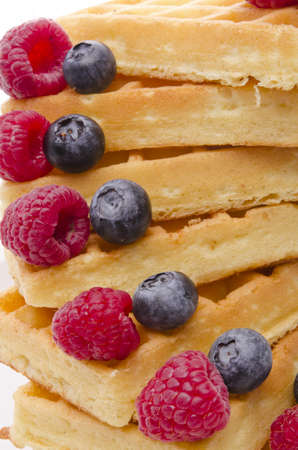 waffle with fruit photo