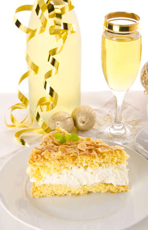 flat cake with an almond and sugar coating  Stock Photo - 14433849