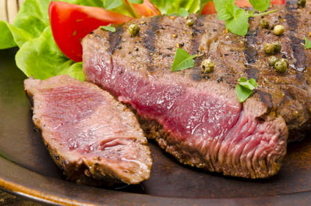 Grilled Steak  Barbecue Stock Photo