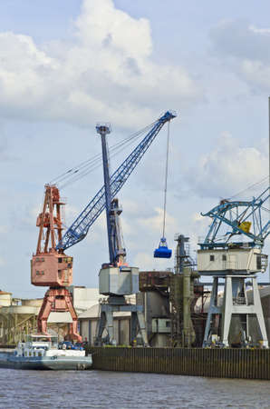 dockside:  the industrial port  Stock Photo