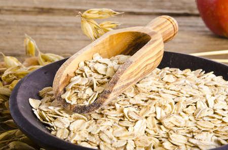 porridge oats Standard-Bild