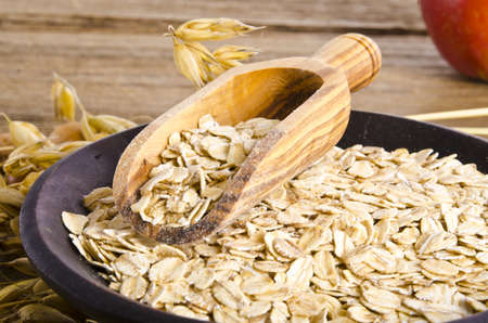 roll: porridge oats Stock Photo