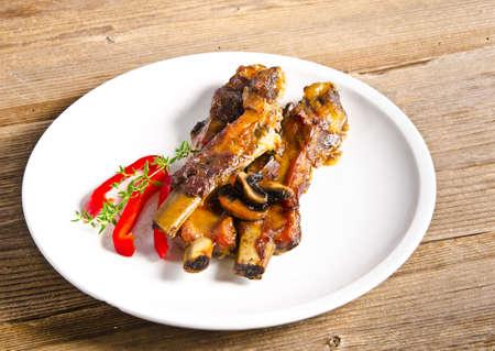 Roasted ribs burnt photo