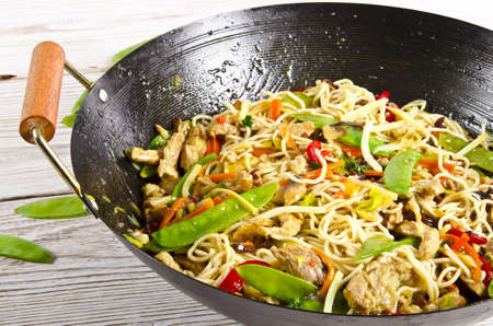 thai chili pepper: Asian noodles with meat