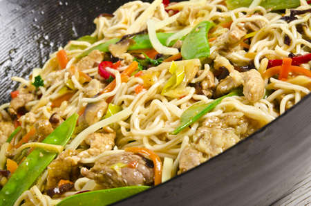 Asian noodles with meat