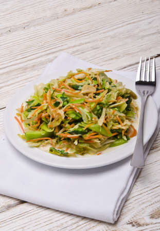Romaine lettuce with carrots and garlic Stock Photo - 15035216