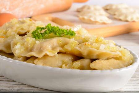 Pierogi Polish christmas dish Stock Photo