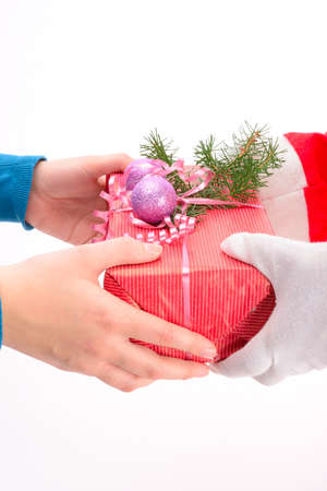 handing: handing out of presents