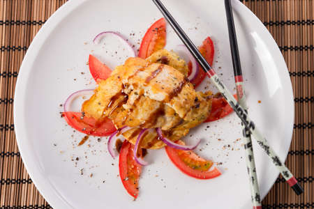 fish with soy sauce photo