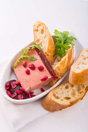 wild pie with aspic and cranberry photo