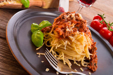 spaghetti bolognese Stock Photo - 17133610
