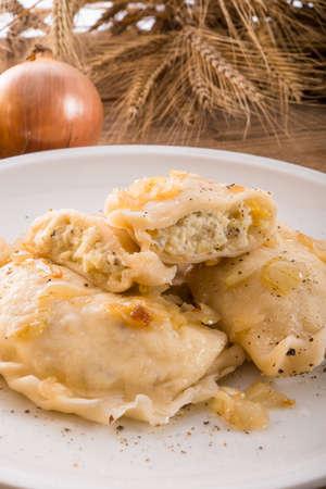 christmas eve:  Pierogi Polish dish   Stock Photo