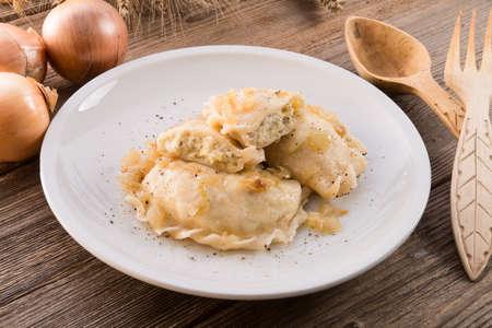 pierogi:  Pierogi Polish dish   Stock Photo