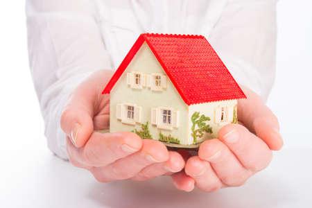 household insurance: Little House on the hands