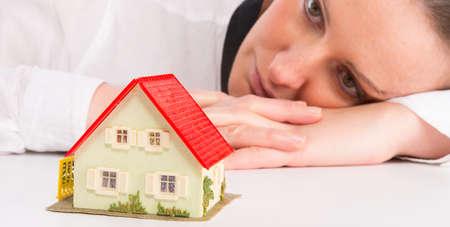 household insurance: Little House Stock Photo