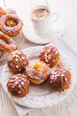 bismarck doughnuts on a plate Stock Photo - 17820205