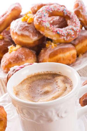 bismarck doughnuts on a plate Stock Photo - 17820237