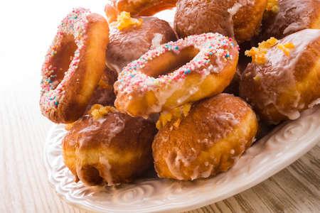 bismarck doughnuts on a plate Stock Photo - 17939478
