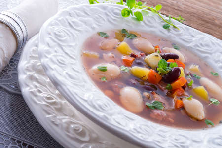 beans soup Stock Photo - 18280309